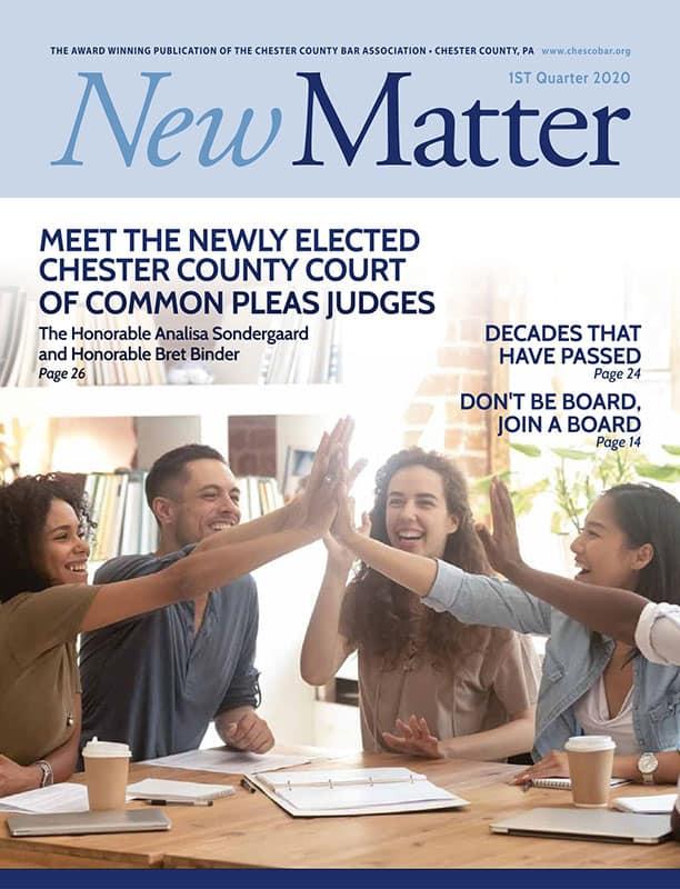 New Matter 1st Quarter 2020